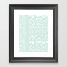 Mudcloth in mint Framed Art Print
