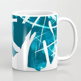 Monstera Leaf Blue Coffee Mug