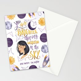 YOU SHINE BRIGHTER Stationery Cards