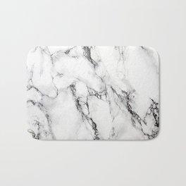White Marble Texture Bath Mat