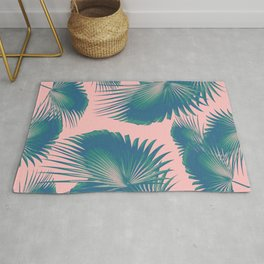 Fan Palm Leaves Paradise #10 #tropical #decor #art #society6 Rug