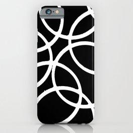 Interlocking White Circles Artistic Design iPhone Case