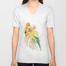 an unlikely grouping Unisex V-Neck