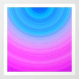 Pink & Blue Circles Art Print