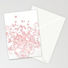 Butterfleur - floral design with flowers & butterflies Stationery Cards