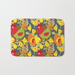 Chickens in the Farmyard Bath Mat