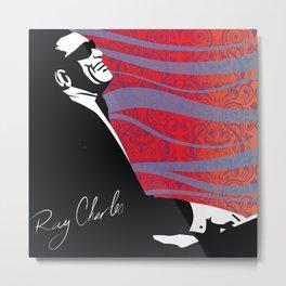 Retro Graffiti Ray Charles Jazz Poster Metal Print