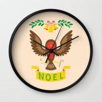 robin Wall Clocks featuring Robin by Wharton
