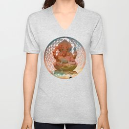 Red Ocean Sunset Unisex V-Neck