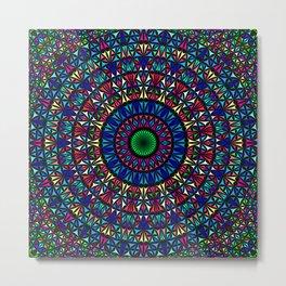 Colorful Church Window Mandala Metal Print
