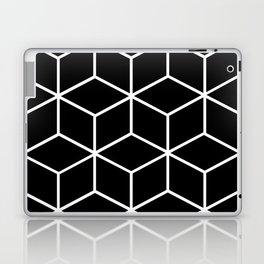 Black and White - Geometric Cube Design II Laptop & iPad Skin