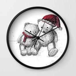 Bear: Merry Christmas Wall Clock