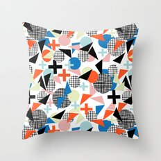 Kimbah - abstract art print shapes modern geometric retro cool colorful hipster gift idea dorm room  Throw Pillow