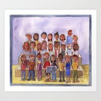 Art Print featuring Mr. Katz's Second Grade Class by Kate Solow
