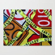 Caution Canvas Print
