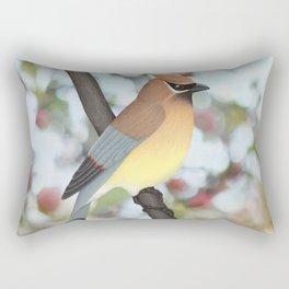 cedar waxwing - bokeh Rectangular Pillow