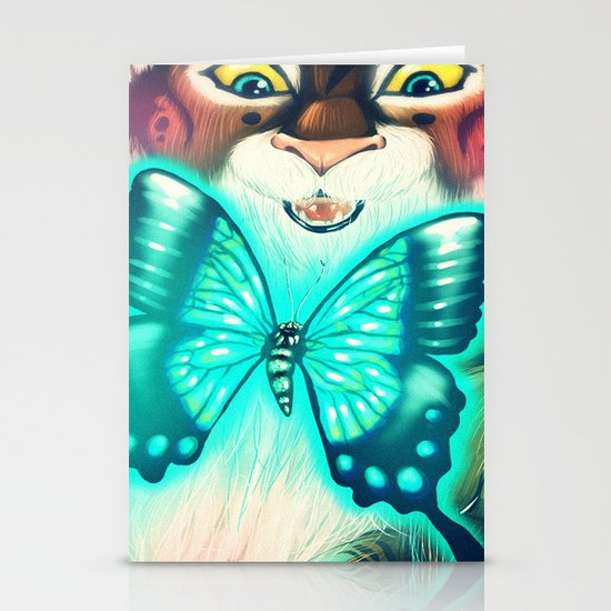 Blue Tiger Stationery Cards