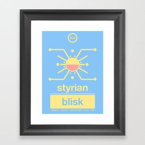 styrian blisk single hop Framed Art Print