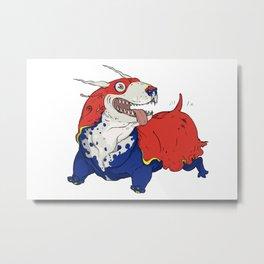 Terrier Slug Dog Metal Print