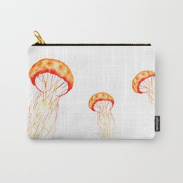 orange jellyfish watercolor Carry-All Pouch