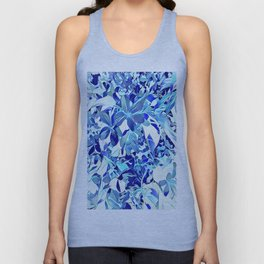 Blue sakura Unisex Tank Top