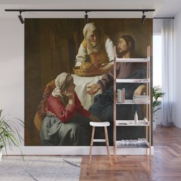 Johannes Vermeer - Christ in the House of Martha and Mary Wall Mural