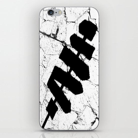 Path sign iPhone & iPod Skin