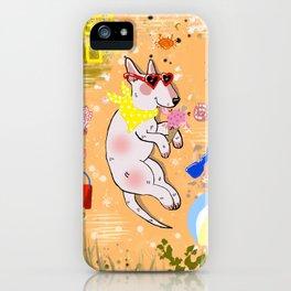 beach bullterrier iPhone Case