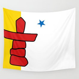 Flag of Nunavut - High quality authentic version Wall Tapestry
