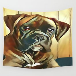 The Boxer Pup Wall Tapestry