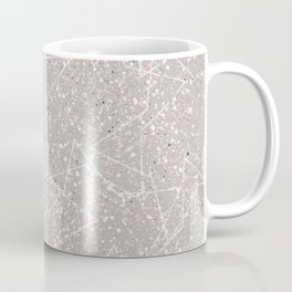 Taupe and Blush Pink Speckles and Stars Coffee Mug