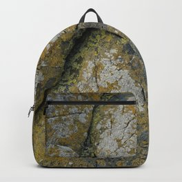 Ancient Rocks with Lichen Texture Backpack