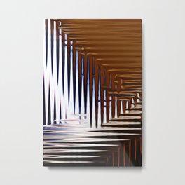 Bright Grid Metal Print