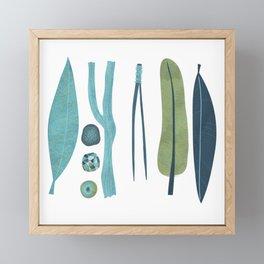 Sticks and Stones Illustration Framed Mini Art Print