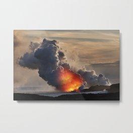 Kilauea Volcano at Kalapana 10 Metal Print
