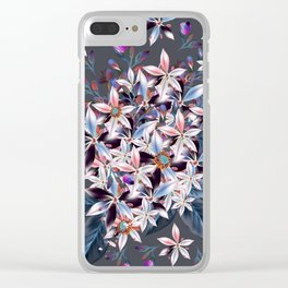 Flower vector pattern in elegant style Clear iPhone Case