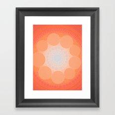 Split In Teal Framed Art Print