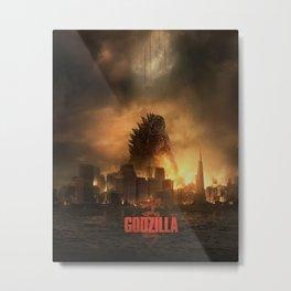 Godzilla 2014 Metal Print