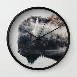 Wild West Bison Wall Clock