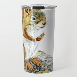 Bright-eyed and Bushy-tailed by Teresa Thompson Travel Mug