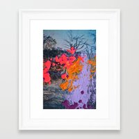 new jersey Framed Art Prints featuring New Jersey by Aniko Gajdocsi