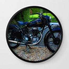Vintage Indian Fire Arrow Motorbike - Circa 1954 Wall Clock