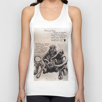 lovecraft Tank Tops featuring Lovecraft Series:  Dunwich Horror by Furry Turtle Creations