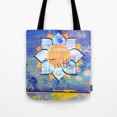 Happy Lotus Tote Bag