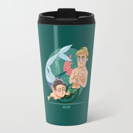 Husband Material: Mermen Travel Mug