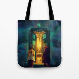 The Doctor, Bill and the kitchen Tote Bag