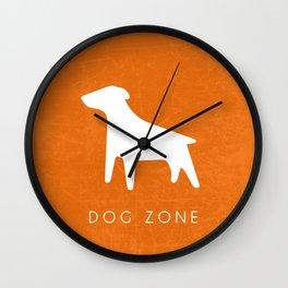 DOG ZONE Wall Clock