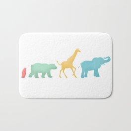 Baby Animal Silhouettes Bath Mat