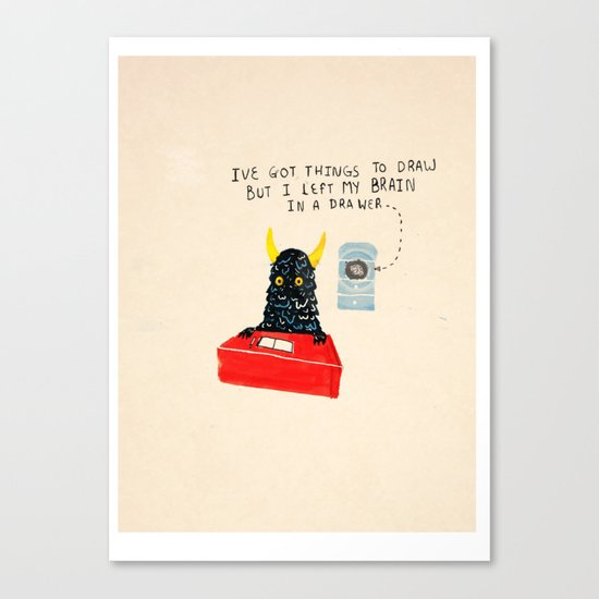 Silly Rhyme doodles  Canvas Print