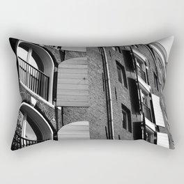 Window Shutter Textures Rectangular Pillow